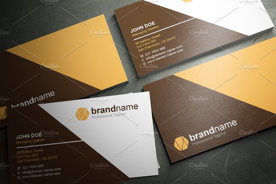 50 Corporate Timeless Business Card in Business Card Templates - product preview 3