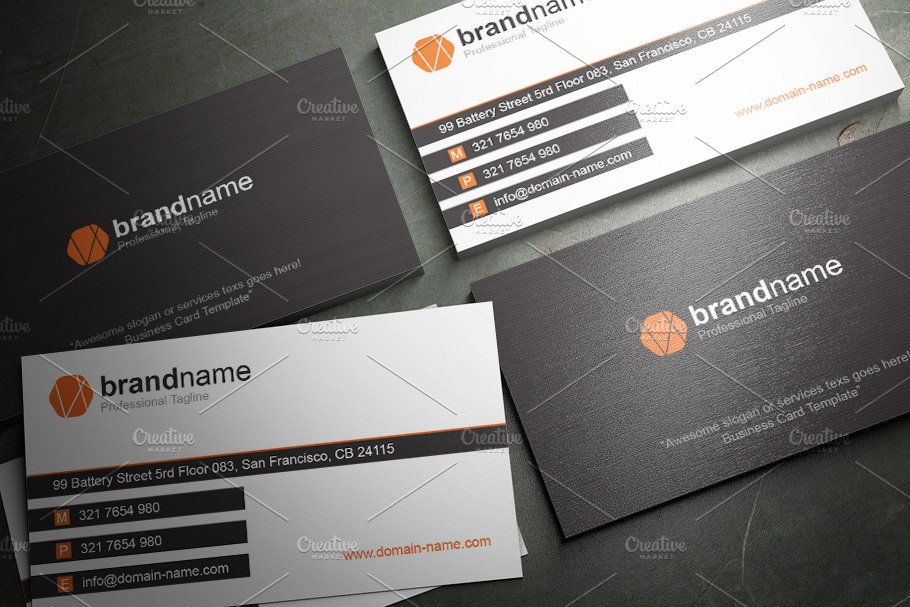 50 Corporate Timeless Business Card in Business Card Templates - product preview 2