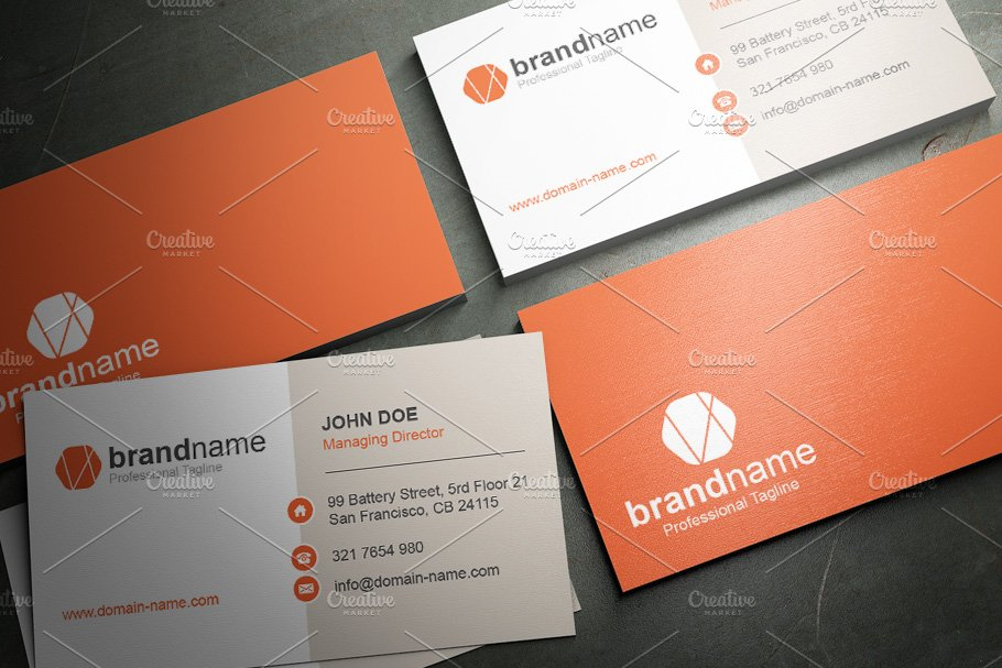 50 Corporate Timeless Business Card in Business Card Templates - product preview 1