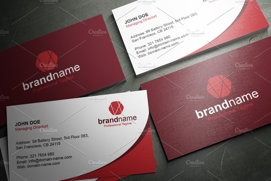 50 Corporate Timeless Business Card in Business Card Templates