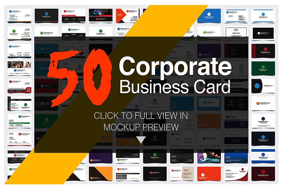 50 Corporate Timeless Business Card in Business Card Templates - product preview 50