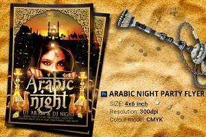 Arabic Night Party Flyer