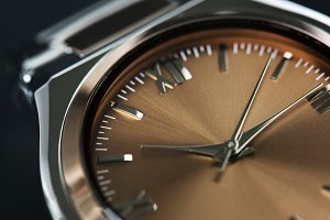 Closeup of watch