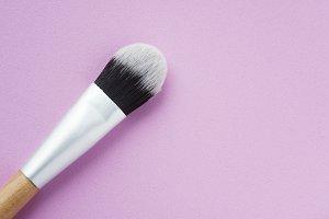 Closeup of cosmetic brush