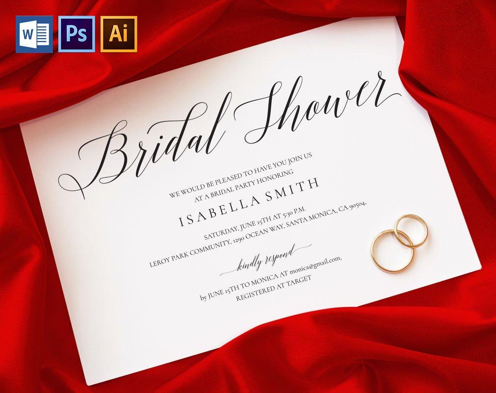 Bridal Shower Invitation Wpc 129 ~ Invitation Templates ~ Creative ...