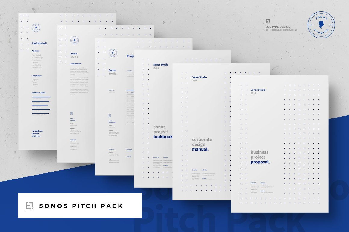 how to make 3d letters sonos pitch pack brochure templates creative 22321 | pitch pack start cm egotype