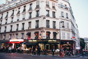 Street view in the city, Paris
