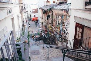 Street side art in Paris, France