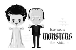 Bride of Frankenstein and monster