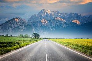 Mountain over horizon
