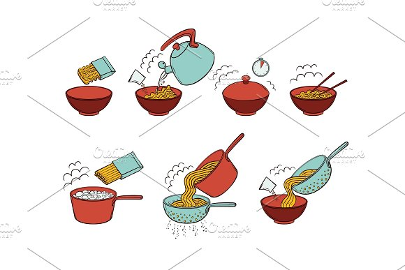 Instant Noodle And Pasta Cooking Instructions