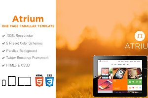 Atrium One Page HTML Template