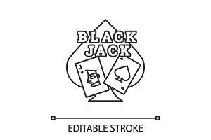 Blackjack linear icon