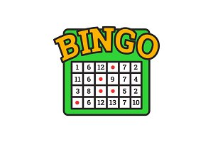 Bingo game color icon