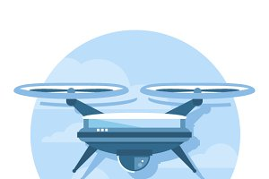 Drone Icon Flat
