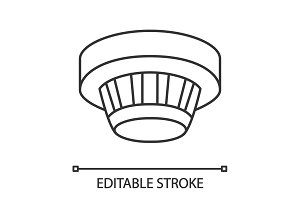 Smoke detector linear icon