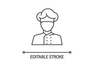 Chef cook linear icon