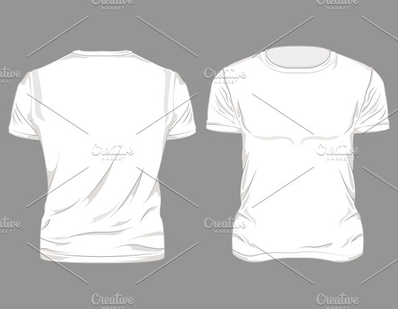White Male T-shirt Design