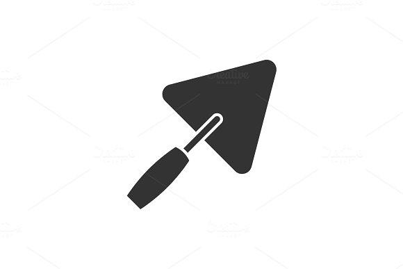Trowel Black Icon