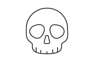 Skull linear icon
