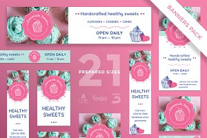 Banners Pack | Homemade Sweets