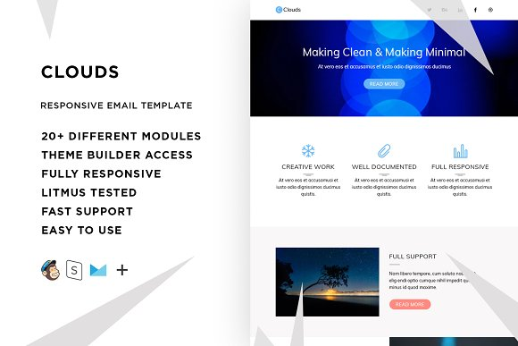 Clouds Email Template Builder