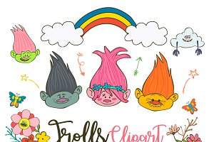 Trolls Clipart Poppy PNG elements
