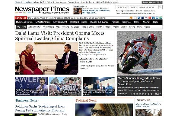 NewspaperTimes News Magazine Theme