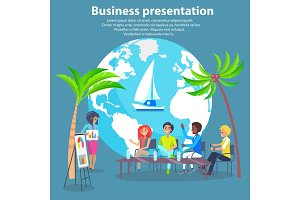 Business Presentation Colorful Vector Illustration