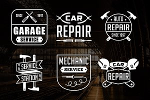 Vintage Mechanic Logo & Badge