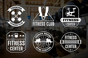 Fitness Vintage Badge & Logo