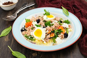Nicoise salad with couscous