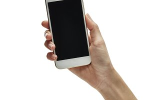 hand hold and touch screen smartphon