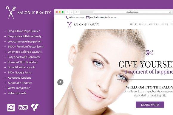 Salon Beauty WordPress Theme