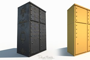 Ornament Mailbox Low Poly Pbr