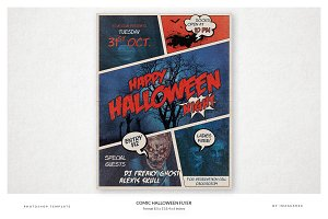Comic Halloween Flyer