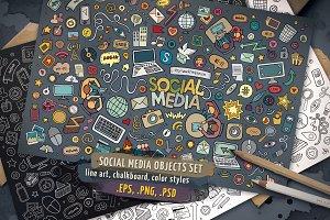 Social Media Objects & Symbols Set