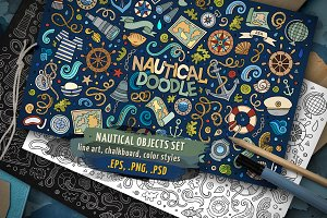 ✮ Nautical Objects & Symbols Set