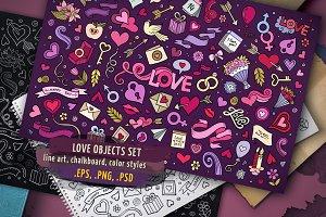 ♥ Love Objects & Symbols Set