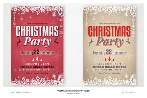 Vintage Christmas Party Flyers