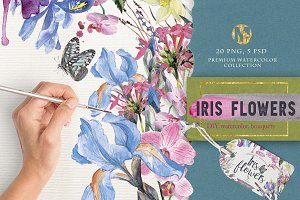 "Watercolor DIY ""IRIS"" vol.1"