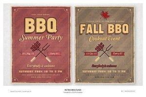 Retro BBQ Flyer