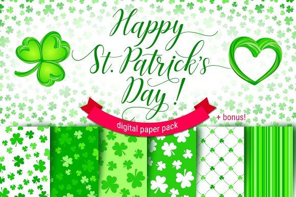 CLOVER Patterns Digital Paper Pack