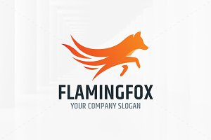 Flaming Fox Logo Templates