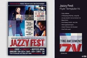 Jazzy Fest Flyer Template V1