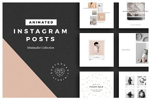 ANIMATED Minimalist Instagram Posts