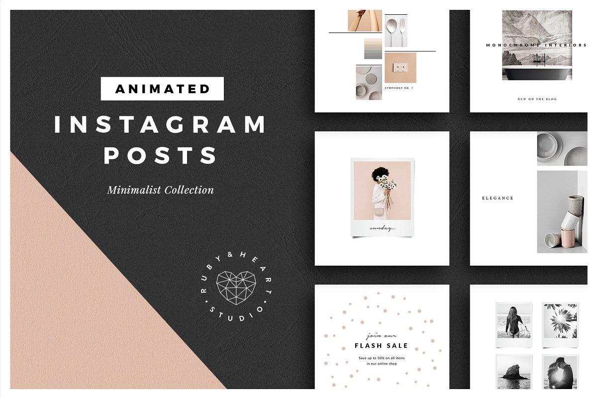 ANIMATED Minimalist Instagram Posts ~ Instagram Templates