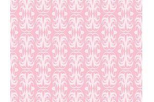 Pink background, seamless pattern