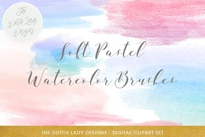 Soft Watercolor Brush Smear Clipart
