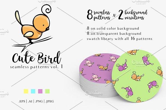 Cute Bird Patterns Vol.1
